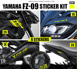 Yamaha FZ-09 gold decals package