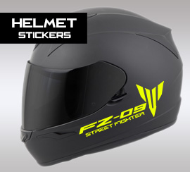 FZ-09 helmet stickers