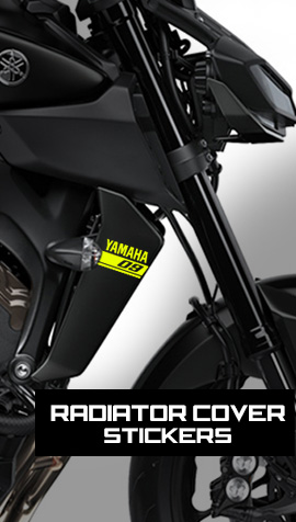FZ-09 radiator side cover stickers